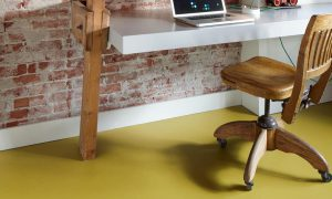Forbo Marmoleum at Home 2013 office green
