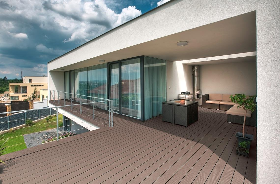 ter huerne DESIGN architektonischer Balkon Braun C09